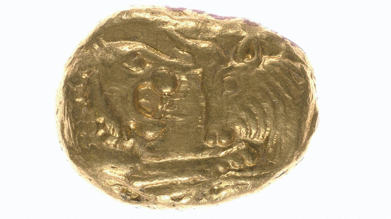 Archaische Goldmünze, ca. 560 v. Chr. (Foto: Imago, Artokoloro)