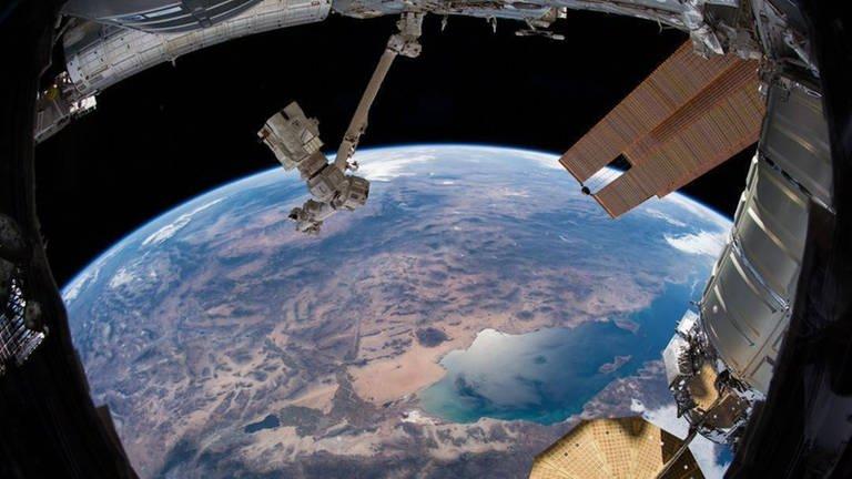 Einer der Lieblingsausblicke für Alexander Gerst: die Westküste der USA, welche die ISS ein Mal am Tag überfliegt (Foto: Imago, Nasa, via www.imago-images.de)