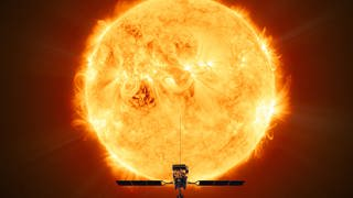 Solar Orbiter wird so nahe wie möglich an die Sonne heranfliegen. Dabei ist die Hitze die größte Herausforderung. (Foto: ESA/ATG medialab)