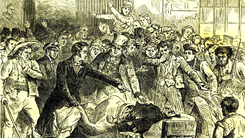 Cholera-Epidemie im Jahr 1832, historische Illustration