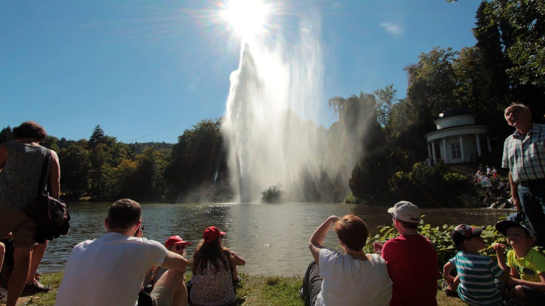 UNESCO Weltkulturerbe Wasserspiele am Herkules Denkmal im Schlosspark Kassel Wilhelmshöhe