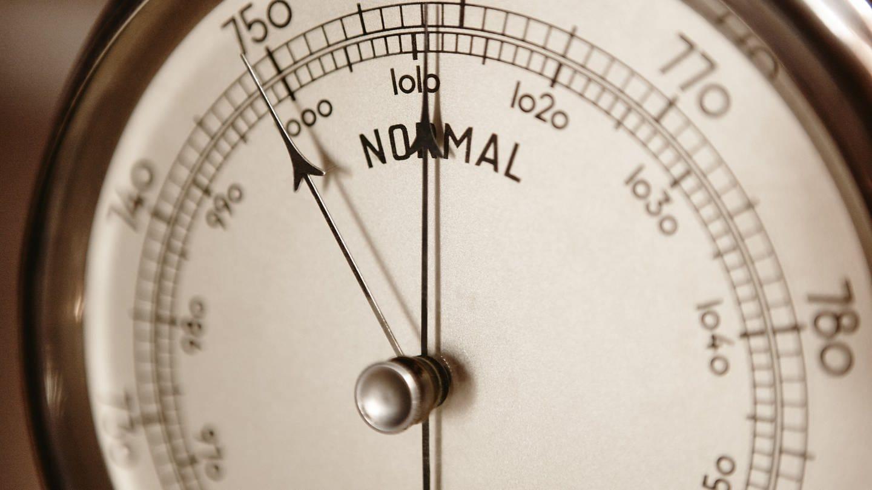 Klassisches Barometer im Detail (Foto: Imago, ABBPhoto via www.imago-images.de)