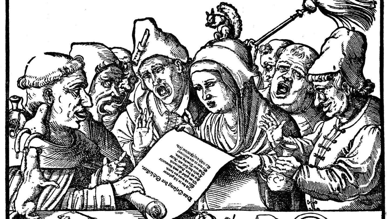 Geistliche beim feierlichen Gesang auf dem Fest, 1510, Holzschnitt, Italien (Foto: Imago, imageBROKER/BAO)