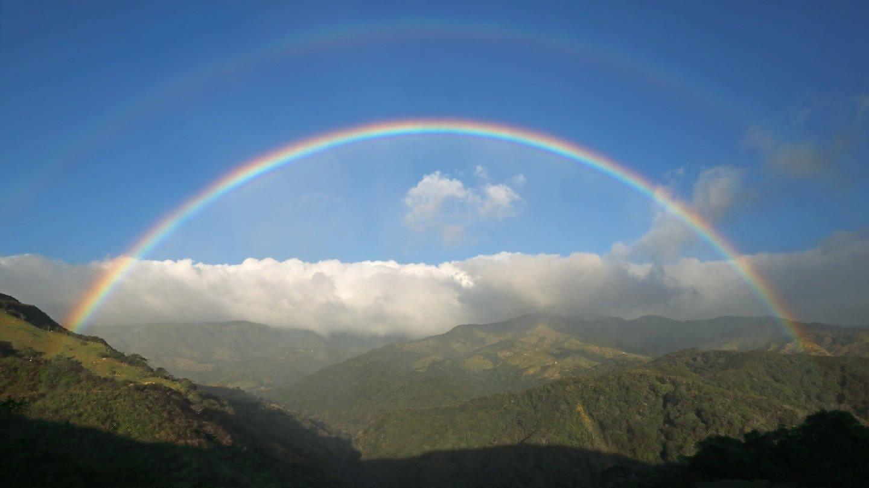 Doppelter Regenbogen auf Costa Rica (Foto: Imago, M. Woike via www.imago-images.de)