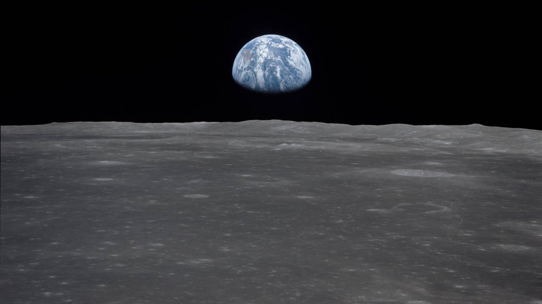 Blick auf die Erde vom Mond aus, Apollomission 1969 (Foto: Imago, IMAGO / Mary Evans)