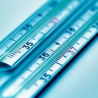 Das Bild zeigt zwei Thermometer. (Foto: Getty Images, Thinkstock -)
